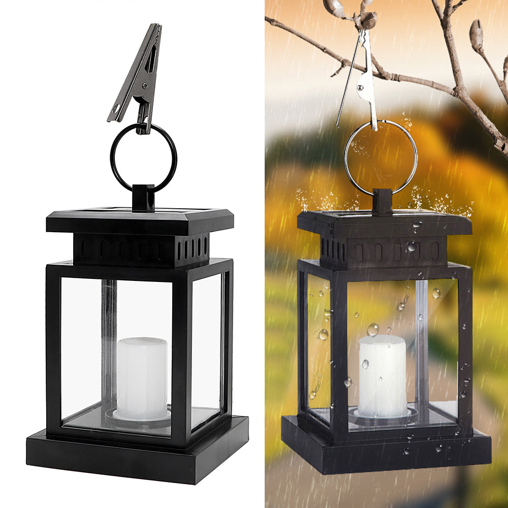 Costbuys  Solar Powered Light with Clamp Portable Electric Candle Light Outdoor Lighting Waterproof Garden Decor Lamp Warm White