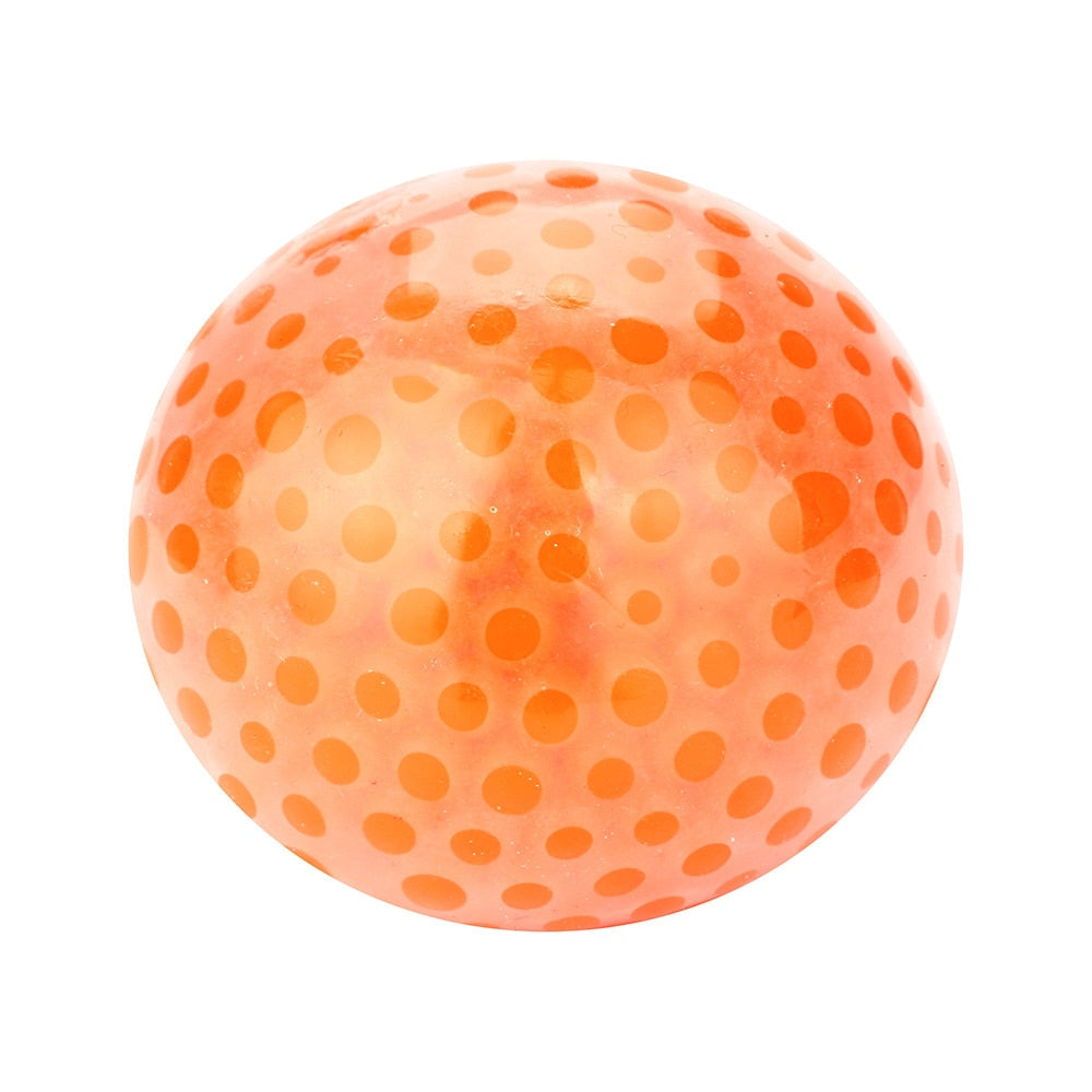 Costbuys  kids Toy Cute Stress Relief Ball  Toys for children Spongy Bead Stress Ball  Stress Squishy relax Squeezable Toy - Ora