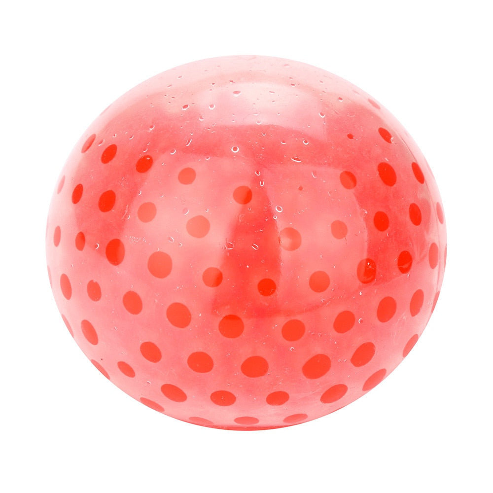 Costbuys  kids Toy Cute Stress Relief Ball  Toys for children Spongy Bead Stress Ball  Stress Squishy relax Squeezable Toy - Red