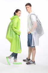 long Transparent backpack Raincoat Women Men waterproof Long hiking fishing Rain Coat Ponchos Jacket Chubasqueros Impermeables