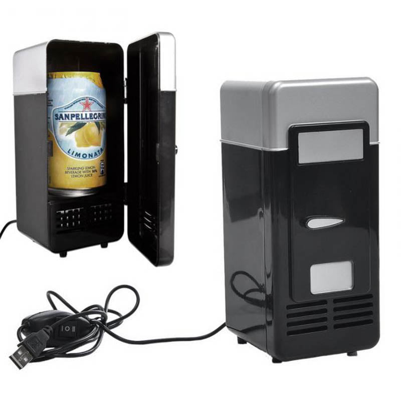 Costbuys  mini fridge cooler portable USB Fridge Cooler Gadget with Warmer USB Beverage cans beer Drink cooler and warmer