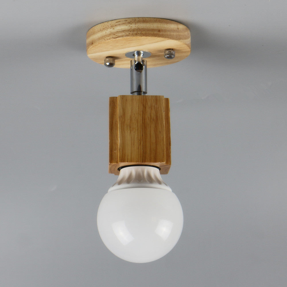 Costbuys  modern ceiling lamp LED indoor light Oka wood pendant The restaurant shops bar corridor light fixture - No blub