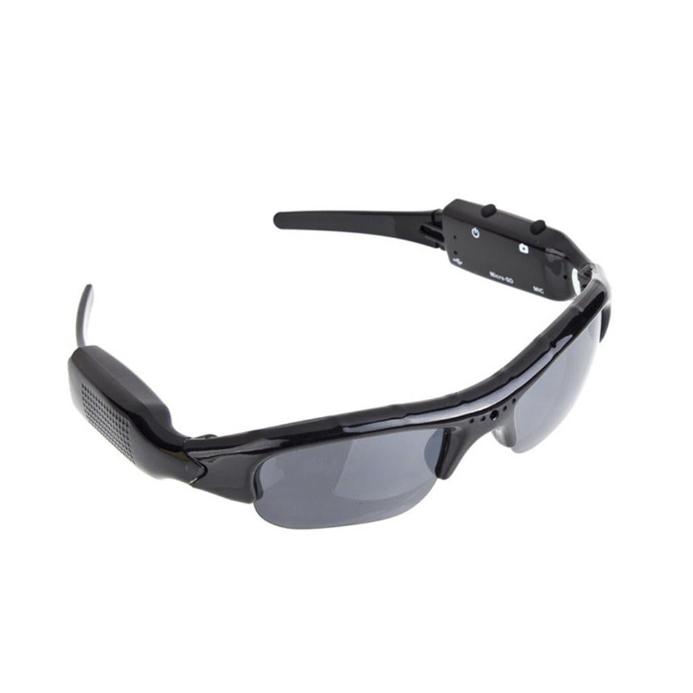 Costbuys  1Pair HD-DV Oval Sunglasses with Video Recording Photograph Camera Shooting Function - black