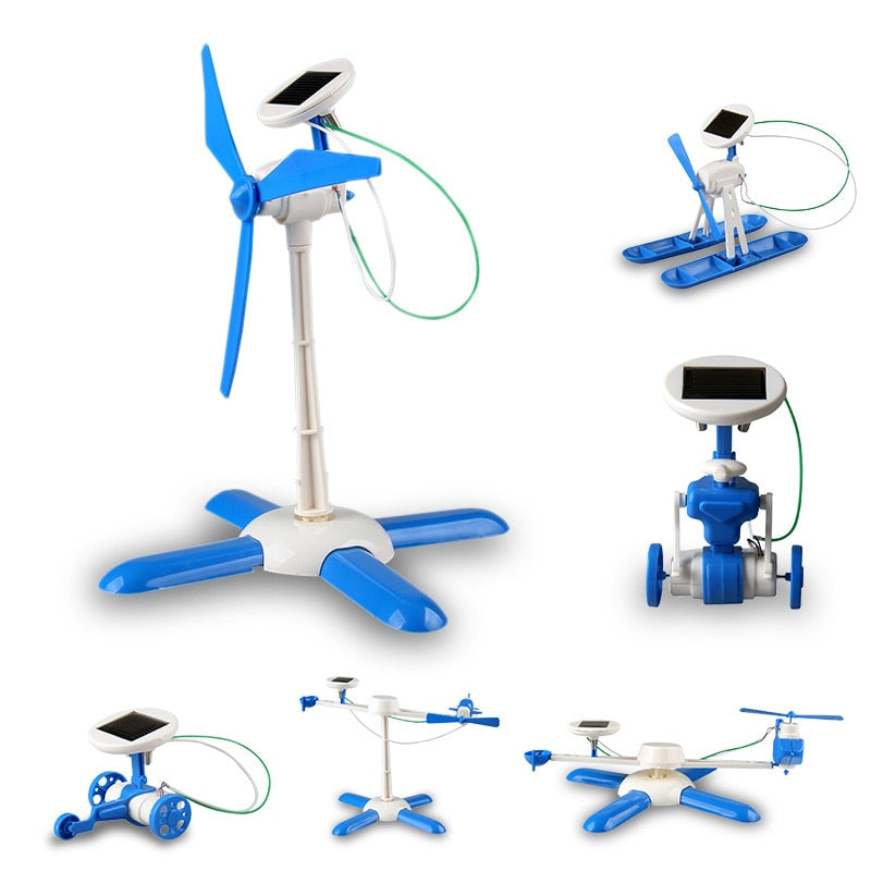 Costbuys  New 6 in 1 DIY solar toy kit robot windmill plane car educational solar power Kits Novelty solar robots For Child boy
