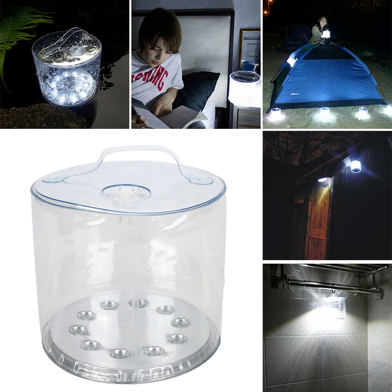 Costbuys  10 LED Solar Powered Foldable Inflatable Portable Light Lamp For Garden Yard Waterproof Light Lamp Outdoor Hot Accesso