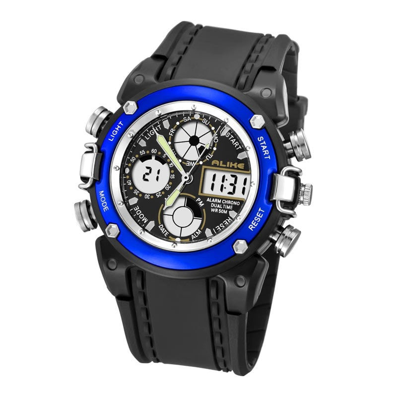 Men Sports Watch Digital LED Military Watch Waterproof Outdoor Casual Wristwatch