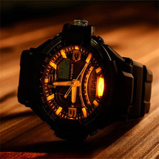 2016 Hot sale Fashion New Multi Function Military Digital LED Quartz Sports Wrist Watch Waterproof free shipping