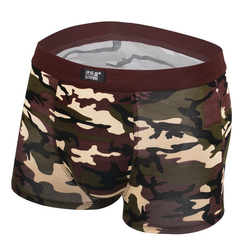 Mens Underwear Plus Size Men's Boxer Shorts Fashion Breathable Modal Boxer Tide men Soldier Camouflage underwear