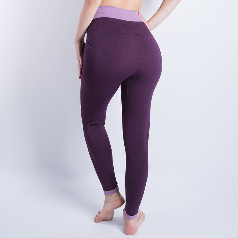 Women Sexy Cropped Leggings High Waist Elastic Wicking Force Exercise Female Elastic Stretchy Leggings Slim Trousers
