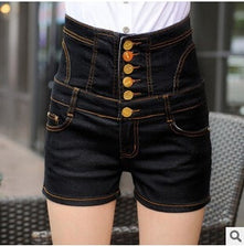 2015 new women's summer plus size denim cowboy hot shorts woman high waist slim hip jeans shorts S-5XL free shipping