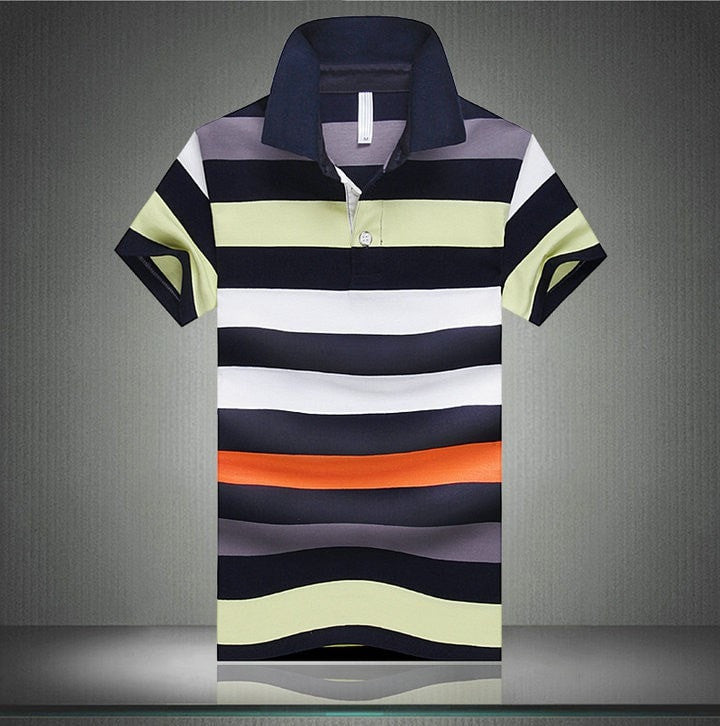 Hot Sale Summer New Arrival Men Polo Shirt Fashion Good Quality Classic Striped Homme Camisa Short Sleeves