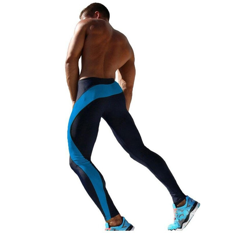 Mens Workout Fitness Compression Leggings Pants Bottom MMA Crossfit Weight Lifting Bodybuilding Skin Tights Trousers M-XXL