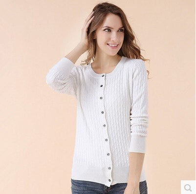 New Cashmere Sweater sweater Knit Cardigan Twist fitting Long sleeved Sweater Girl 11 color choices
