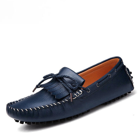 Fashion Flats Men Shoes Genuine Leather Loafers Men'S Flats Low Platform Oxford Shoes For Men Moccasin Loafer Zapatillas Hombre
