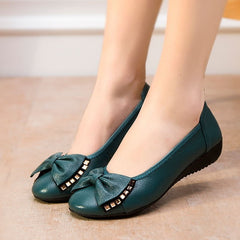 Plus Size(34-43) Fashion Spring Women Shoes Genuine Leather Single Flat Shoes Woman Casual Loafers Comfortable Women Flats