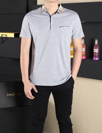 Men solid cotton Polo Shirt For Men Polos Cotton Short Sleeve Shirt Fashion Shirt Plus Size High Quality big