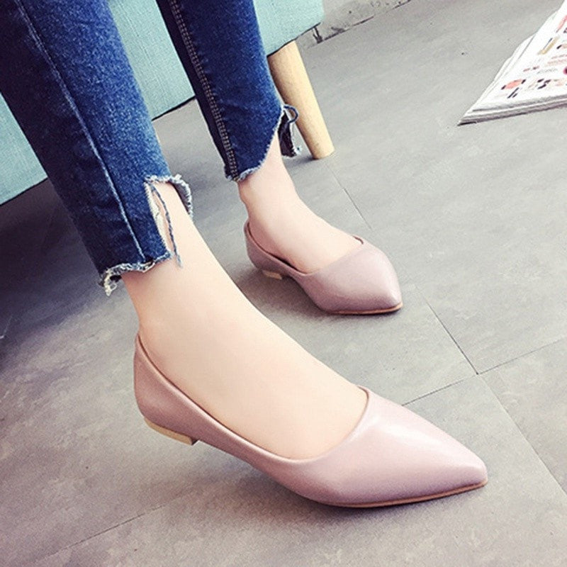 Fashion Women Shoes Woman Flats Casual Comfortable Pointed Toe Women Flat Shoes Slip-On Loafers Zapatos Mujer