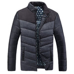 Winter Men Down Cotton Jacket Fashion Warm Thick Brand Clothing Casual Parkas Mandarin Collar Warm Coat