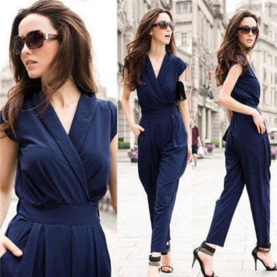 Women Jumpsuits Overall Sexy Ladies Black Jumpsuit Rompers Salopette Femme Ruched Sleeveless Jumpsuits Plus Size 3 Colors S151