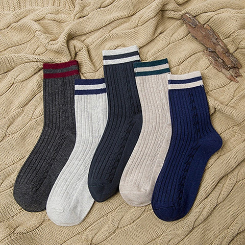 5 Pairs Men Bamboo Fiber Socks Deodorant Anti-bacterial Classic Black Man's Fashion Socks Healthy Comfortable