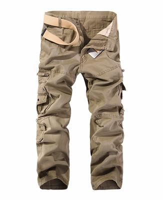 New Men Cargo Pants big pockets decoration mens Casual trousers easy wash autumn army green pants male trousers size 40