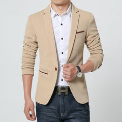 4 Colors High Quality Men blazers Jacket New Arrivals Masculino One Button