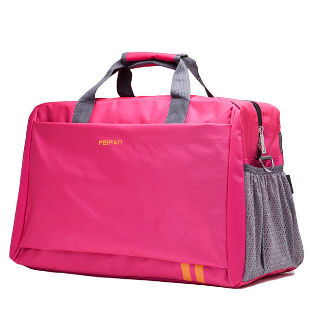 Costbuys  New Style Men Travel Bags Large Capacity Luggage Bags Waterproof Travel Totes Bags - rose red large