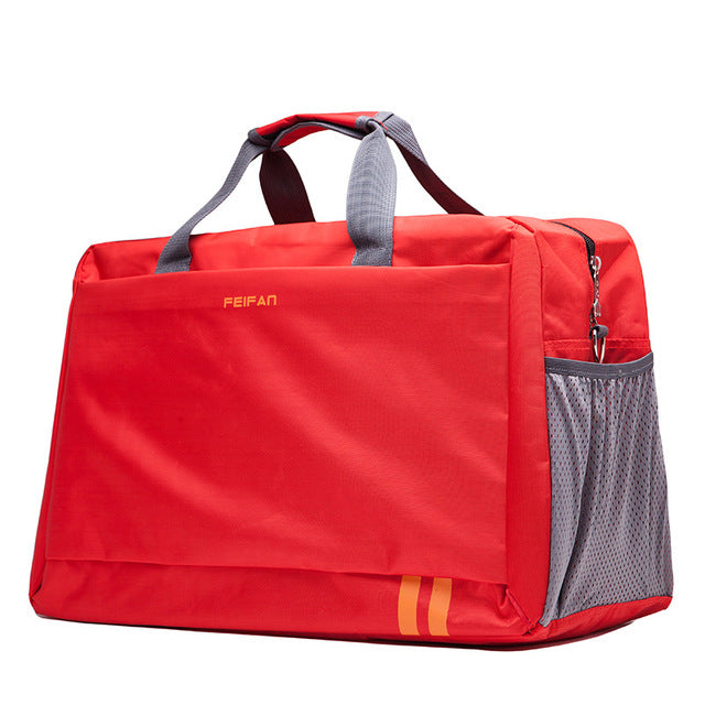 Costbuys  New Style Men Travel Bags Large Capacity Luggage Bags Waterproof Travel Totes Bags - red large