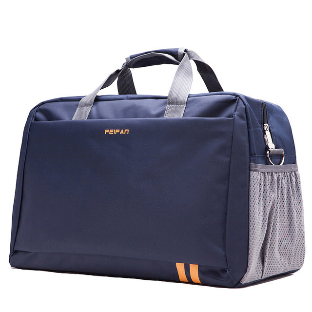 Costbuys  New Style Men Travel Bags Large Capacity Luggage Bags Waterproof Travel Totes Bags - deep blue small