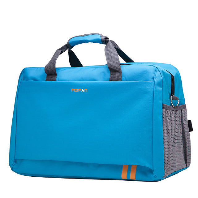 Costbuys  New Style Men Travel Bags Large Capacity Luggage Bags Waterproof Travel Totes Bags - sky blue small