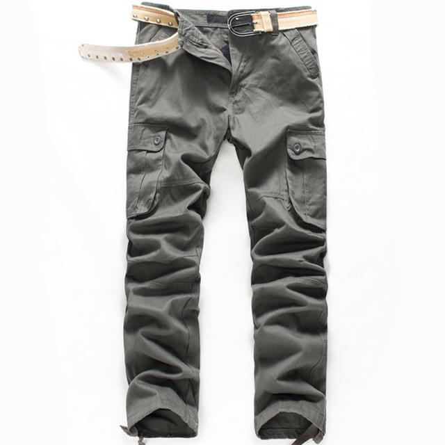New Arrival High Quality Spring Style Top Fashion Clothing Solid Mens Cargo Pants Cotton Men Trousers Joggers Plus Sizeens