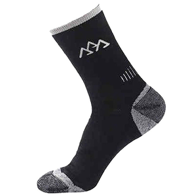 Costbuys New Mens Semi-thick Merino Wool Warming Socks For Climing Compression Men Socks - Black / One Size