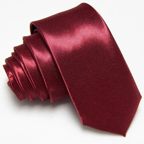 fashion Slim Ties white Skinny neck Tie Men's necktie Solid color Polyester 36colors 5CM WIDTH