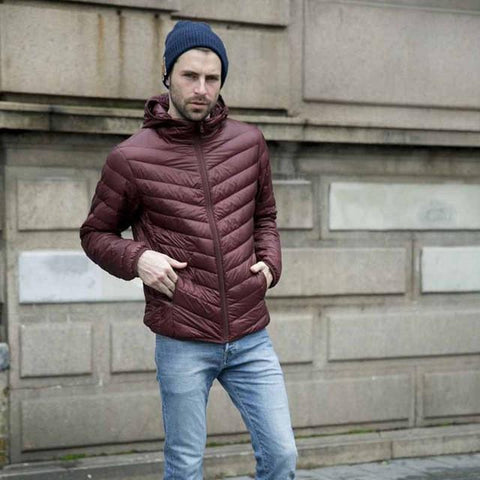 New men's winter jacket polyester padded coat casual outwear overcoat 3 colors M-4XL