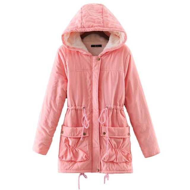 New winter coats women cotton-wadded slim jacket thermal plus size warm parkas quilt overcoat Poncho jaqueta casacos feminina