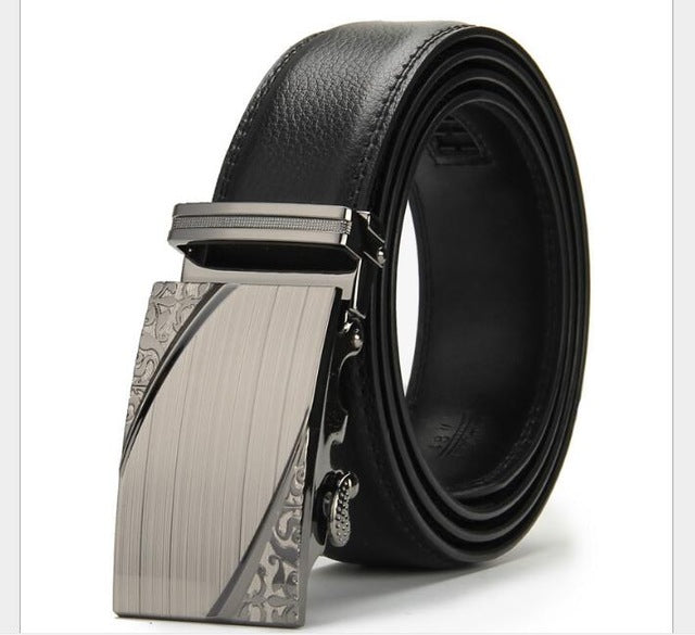 Men's belt high-grade automatic buckle belts leisure business leather belt manufacturer provides straightly