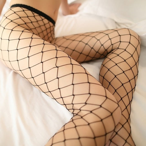 Women's Long Sexy Fishnet Stockings Pantyhose Mesh Stockings Lingerie
