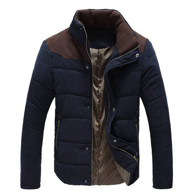 New Winter Men's Jacket Warm Thick Men Parkas Fashion Thermal Solid Male Coats Casual Brand Clothing
