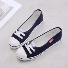 Spring light canvas shoes women shoes slip-on tide students set foot pedal flat shoes