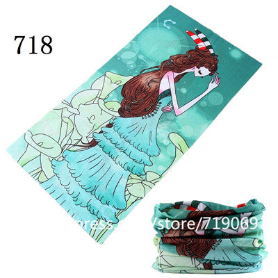 701-720 Out Sport Bicycle Motorcycle Bandana Scarf Headband Variety Turban Hood Magic Veil Head Scarf Multi Function Sportt