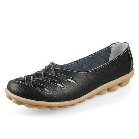 Costbuys  Summer New Fashion Round Toe Women Flats Moccasins Comfortable Woman Shoes Cut-outs Leisure Flat Woman Casual Shoes -