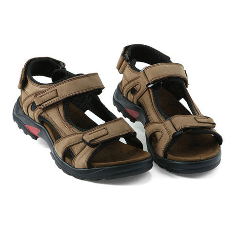 men sandals summer genuine leather sandals men outdoor shoes men leather sandals plus size