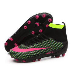 c3a0f25d2 Professional Adults Men s Outdoor Soccer Cleats Ankle Top TF FG Soccer  Football Boots Trainers Sports