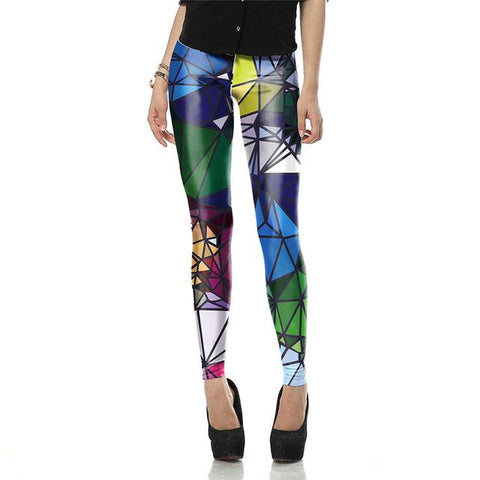 Autumn Legging Black Blue and Purple Objects legins Printed leggins Women leggings Sexy  Women Pants