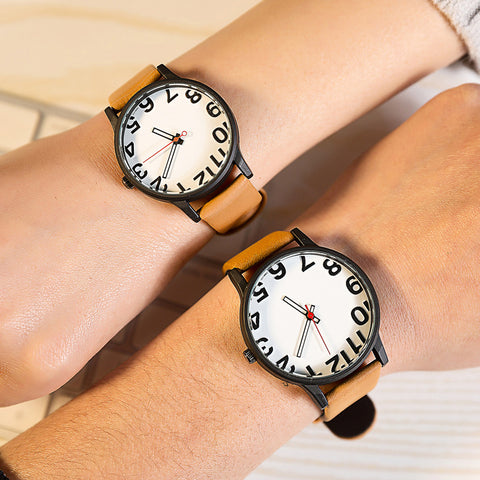 Women Men Wrist Watches Casual Geneva Faux Leather Quartz Analog reloj hombre kol saati Good-looking