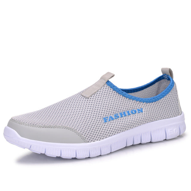 Slip On Beach ShoeWomen Flat Lightweight Mesh Breathable Double Color Non-Slip Casual Soft Shoes