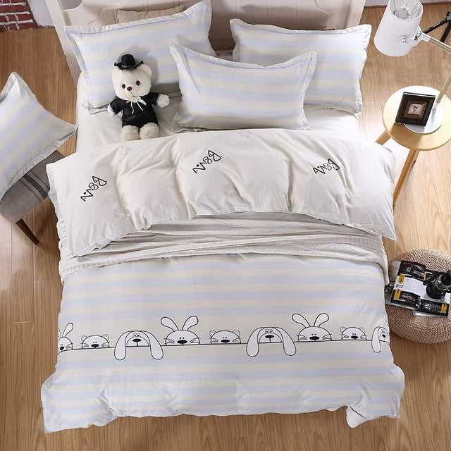 Costbuys  Bedding Sets Long period flowers Polyester Cotton Queen full Bed Linens duvet cover Sheet Sets - A9 / Queen cover 200b