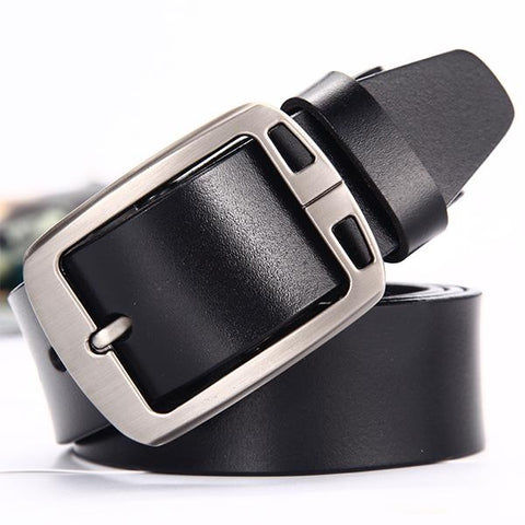 5 Color No Buckle Designer Mens Belts Body 3.5cm Wide Cowskin Genuine Leather High Quality Men Automatic Belt Body Kemer White