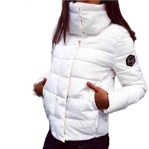 Winter jacket women wadded jacket female outerwear slim winter hooded coat long cotton padded fur collar parkas plus size