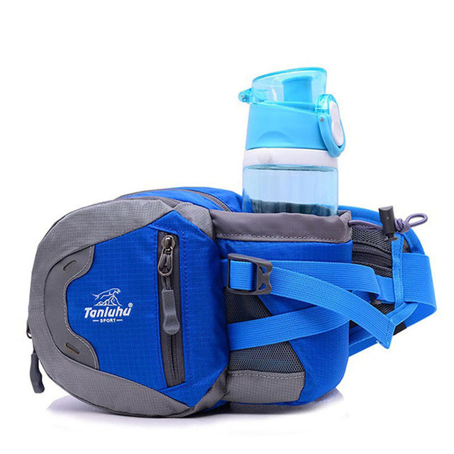 Costbuys  Waterproof nylon Multifuntictional Outdoor Sport Running bag Cycling Climbing sport waist bag water bottle belt bag -